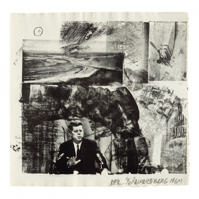 ROBERT RAUSCHENBERG: Postscripts for XXXIV Drawings for Dante's Inferno & Post Rally