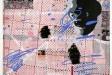 <i>Thexterminatingangel</i>, 2017, acrylic on laminated paper, 42 1/2 x 44 1/2 inches