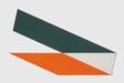 Chunk Logo # 33, 2012, Cut screen print, 17 x 8 3/4