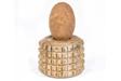 Rock Egg, 1994, rock, glazed ceramic, 5 1/4