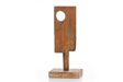 Lunar Board, 2014, wood, brick, 18 1/2