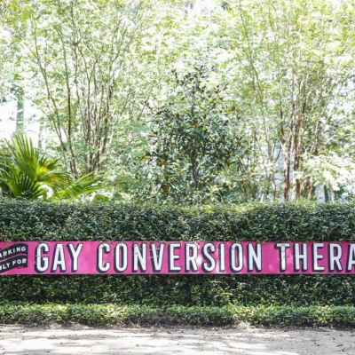 "Robert Rosenberg ""Parking Only for Gay Conversion Therapy"" featured in The Houston Chronicle"