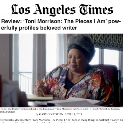 Timothy Greenfield-Sanders reviewed in LA Times - Toni Morrison: The Pieces I Am
