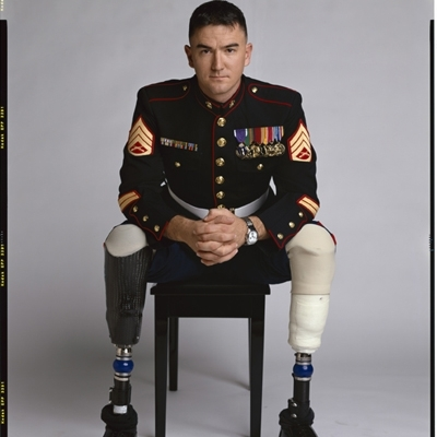 Timothy Greenfield-Sanders - Injured Soldiers & Marines Houston Press